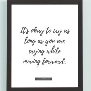 Inspirational Wall Art Printed Quote 10 (Unframed 8×10)