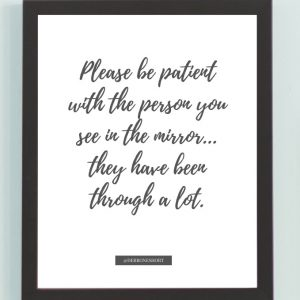 Inspirational Wall Art Printed Quote 12 (Unframed 8×10)