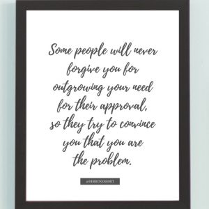 Inspirational Wall Art Printed Quote 5 (Unframed 8×10)