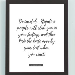 Inspirational Wall Art Printed Quote 6 (Unframed 8×10)
