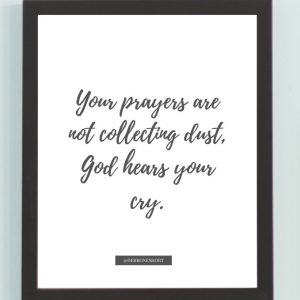 Inspirational Wall Art Printed Quote 9 (Unframed 8×10)